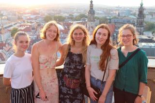 Gastschülerinnen im Rahmen des The Dresden Trust