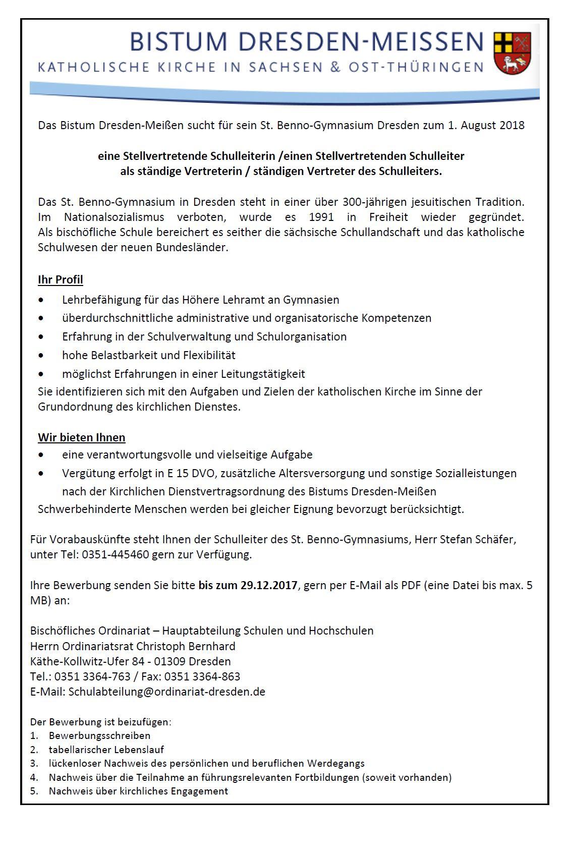 Schuljahr 2017/2018 - St. Benno-Gymnasium Dresden